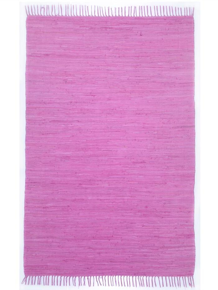 Theko®die Markenteppiche Handwebteppich Ulli, Lila
