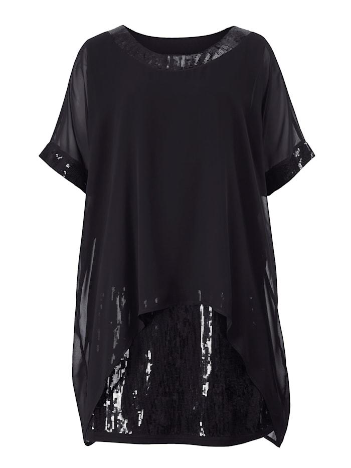 2in1 Kleid mit Pailletten