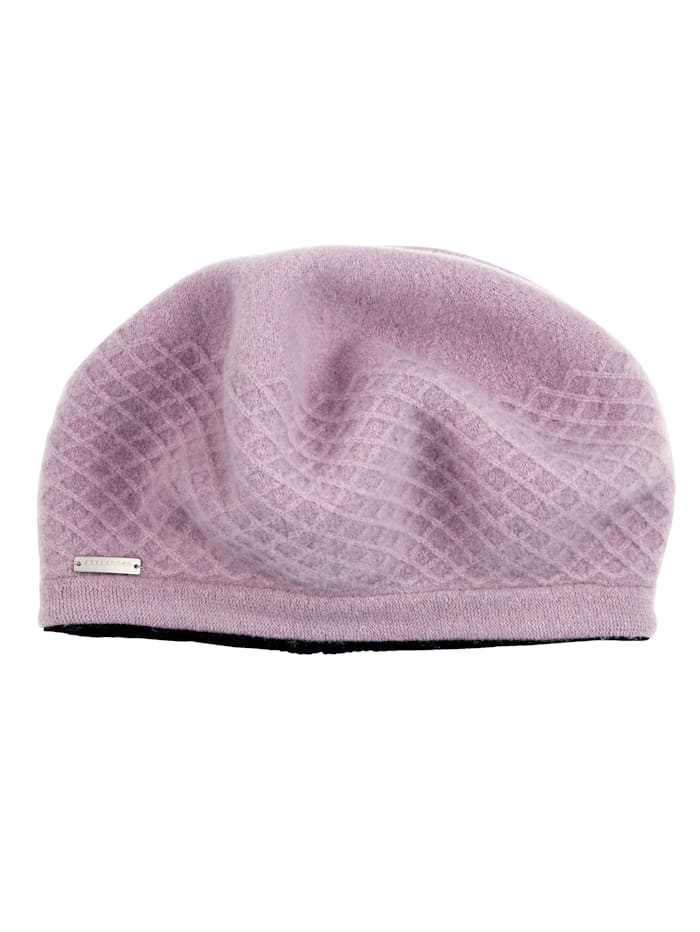 Seeberger Beret made from pure virgin wool, Lavender