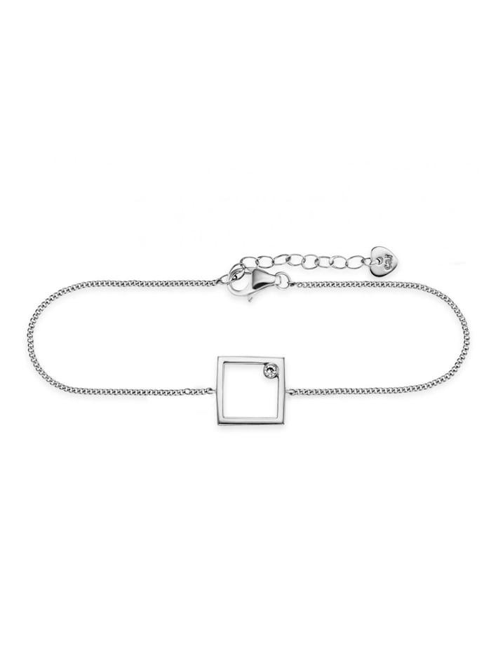 CAI Armband 925/- Sterling Silber Zirkonia weiß 16+3cm Glänzend, weiß