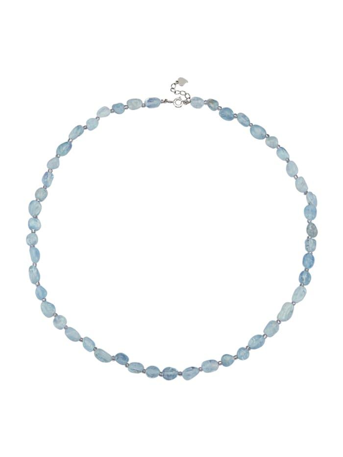 Aquamarin-Halskette, Blau