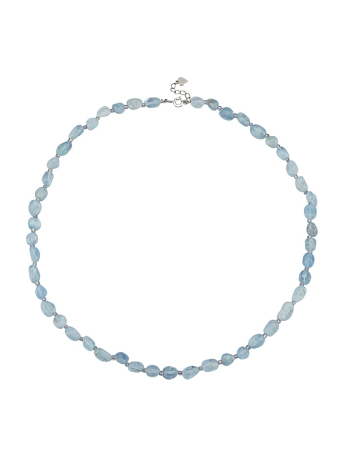 Collier en aigue-marine, Bleu