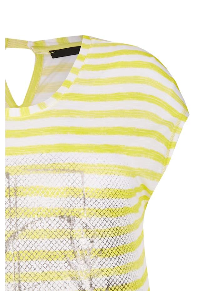 Shirt mit Ringelmuster und schimmernden Print