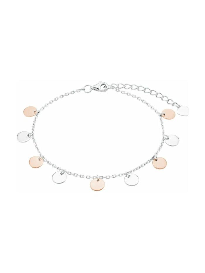 amor Armband für Damen, Silber 925, Münzen bicolor, Bicolor