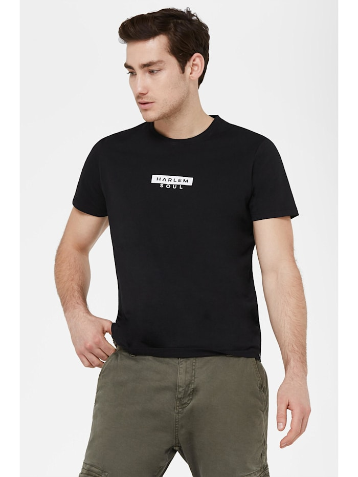 Harlem Soul MEL-BOURNE T-Shirt mit Mini Logo Print, black
