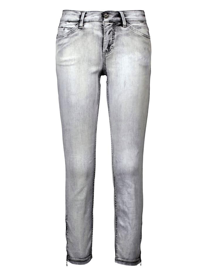 MAC Jeans in heller Waschung, Grey