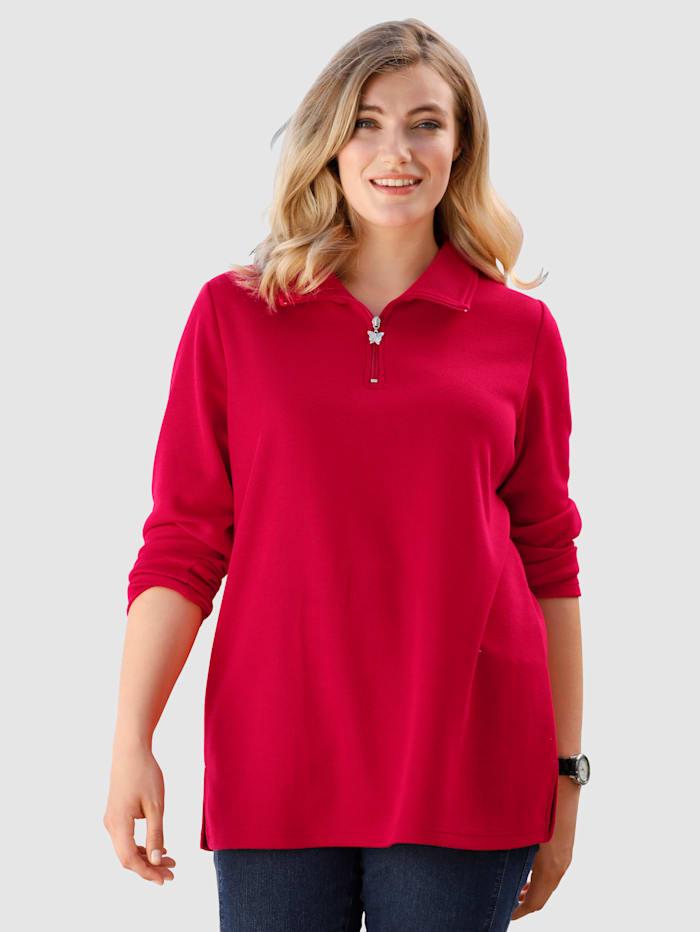 m. collection Sweatshirt i skön vardagsmodell, Röd