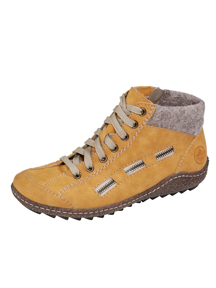 Rieker Ankle boots in a sporty style, Mustard