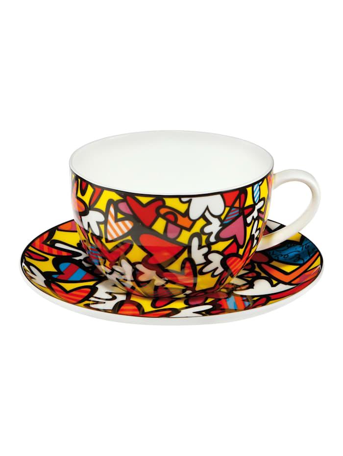 Goebel Tee-/ Cappuccinotasse Romero Britto - Hearts, Britto - Hearts