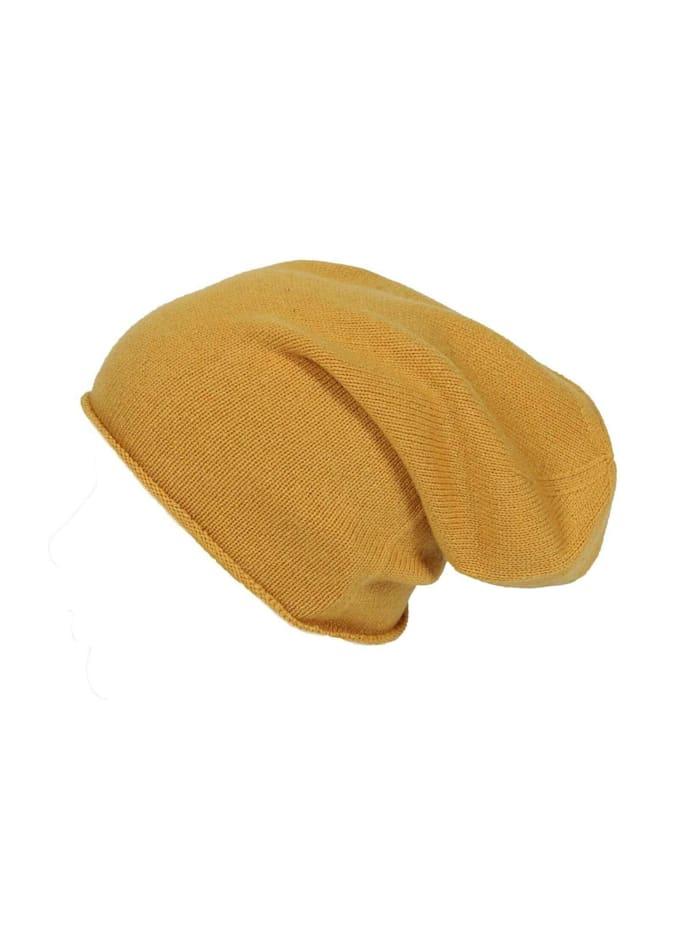 Zwillingsherz Strickmütze Meike, gelb