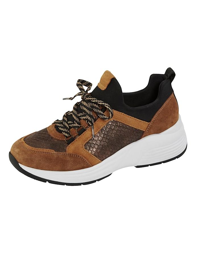 Remonte Sneaker mit absorbierender SoftFoam Decksohle, Cognac