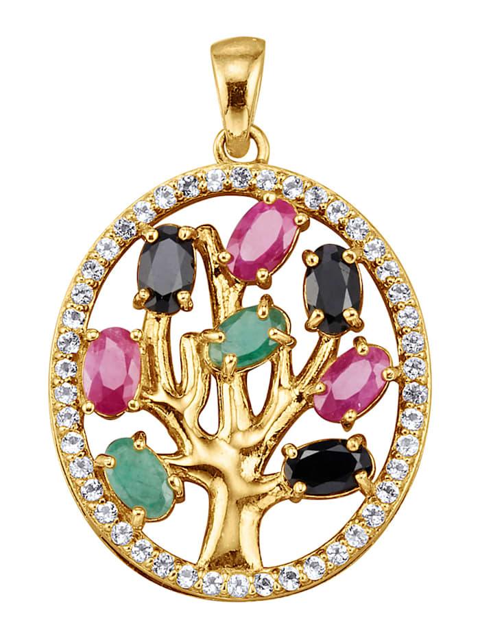 Lebensbaum-Anhänger multicolor, Multicolor