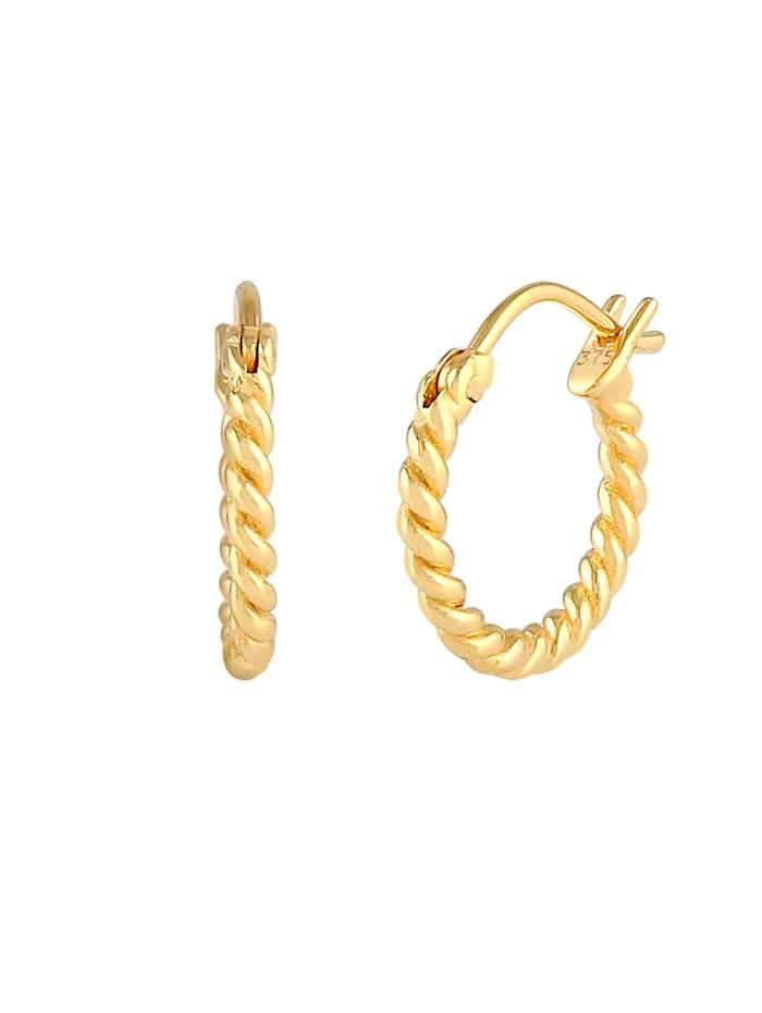 Ohrringe Creolen Hänger Zeitlos Gedreht 375 Gelbgold