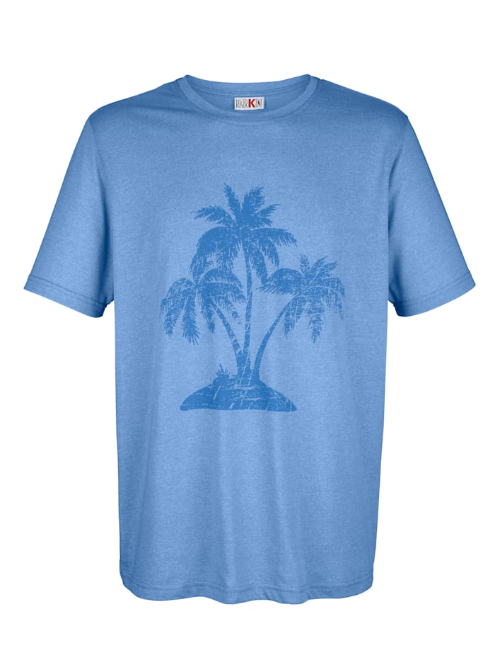 T-Shirt mit Palmendruck