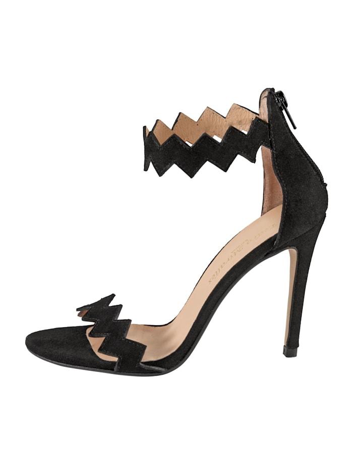 Sandalette auf feinem Veloursleder