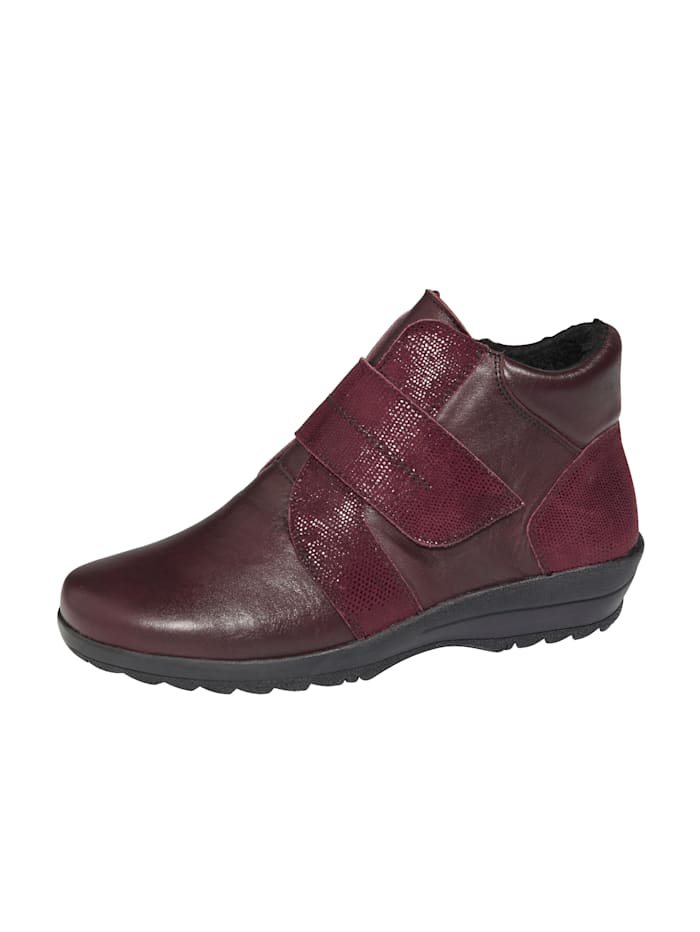 Naturläufer Ankle boots made from supple leather, Bordeaux