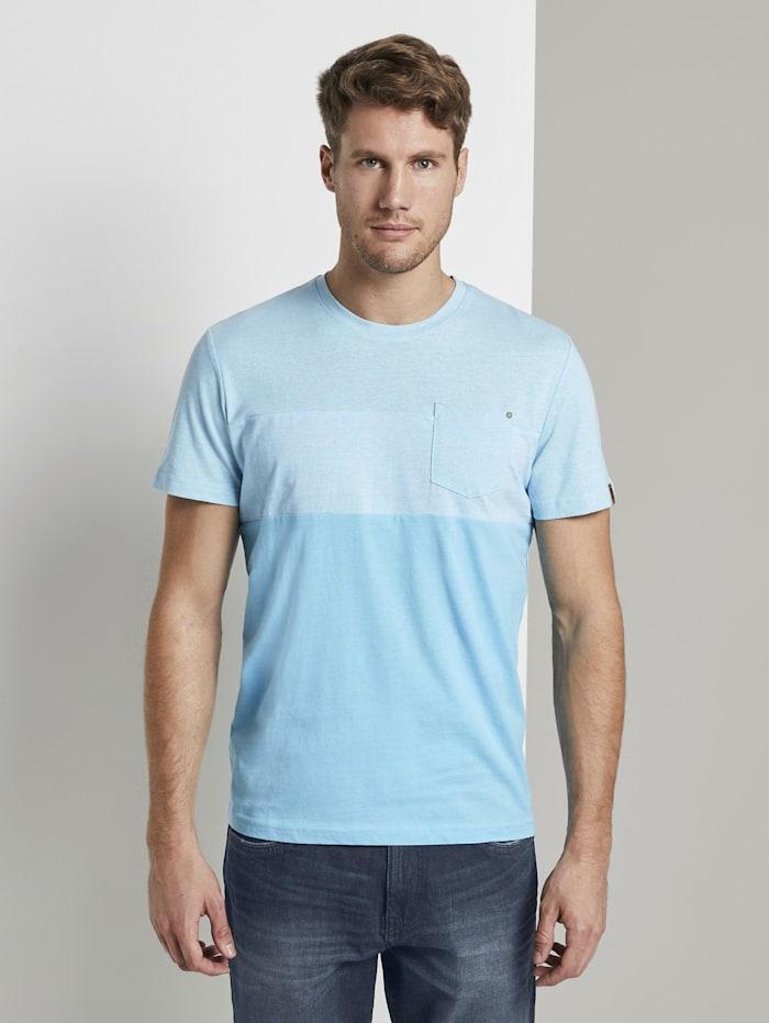 Tom Tailor T-Shirt mit Streifenmuster, crystal sea blue