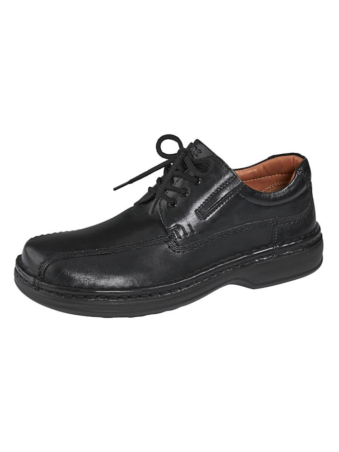 Ara Schnürschuh mit stoßdämpfender Laufsohle, Schwarz