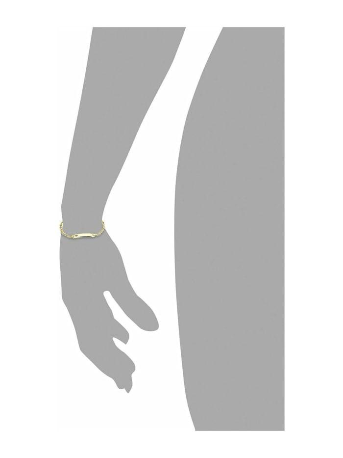 Identarmband Unisex, Gold 375, Herz