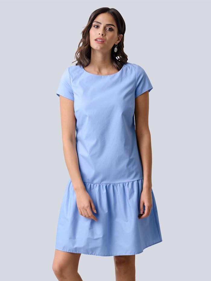 Alba Moda Klänning med bred volangkant nedtill, Ljusblå