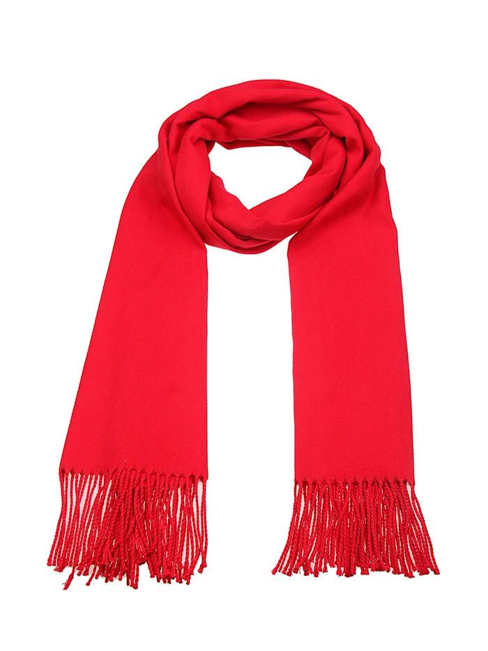 Leslii Schal mit gedrehten Fransen, rot