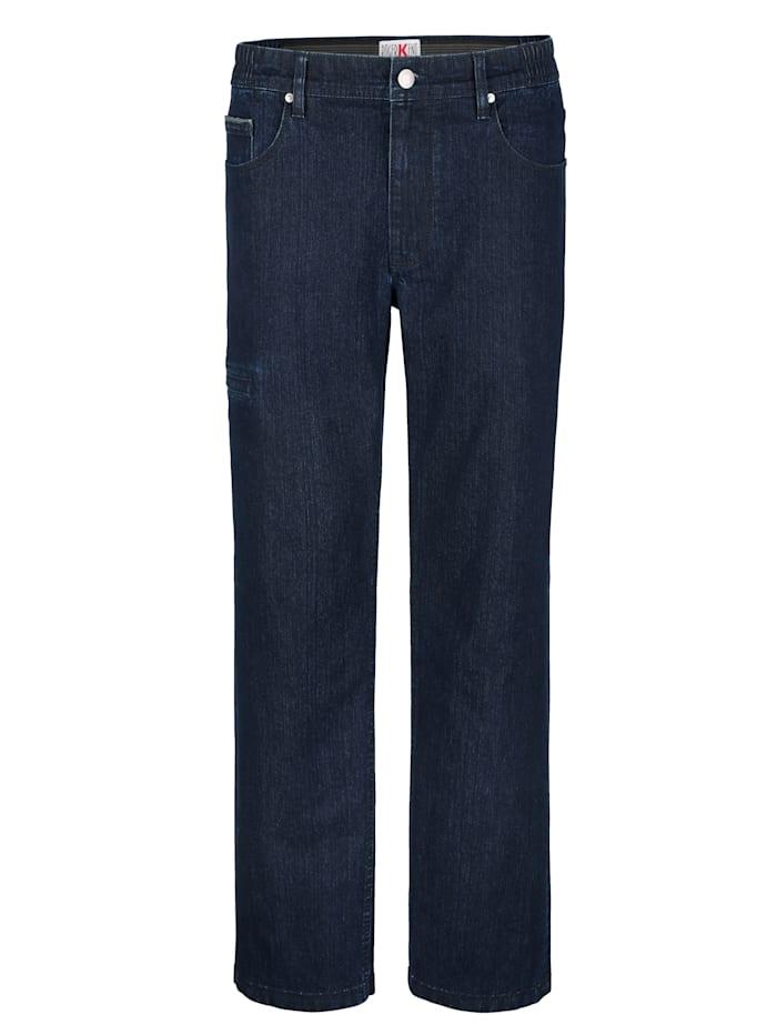 Roger Kent Jeans met reflectoren op zakken en zomen, Dark blue