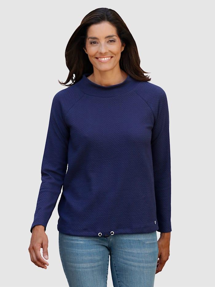 Sweatshirt in schöner Strukturware