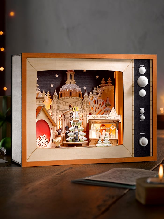 My Flair Led-televisie Kerstmarkt, Multicolor