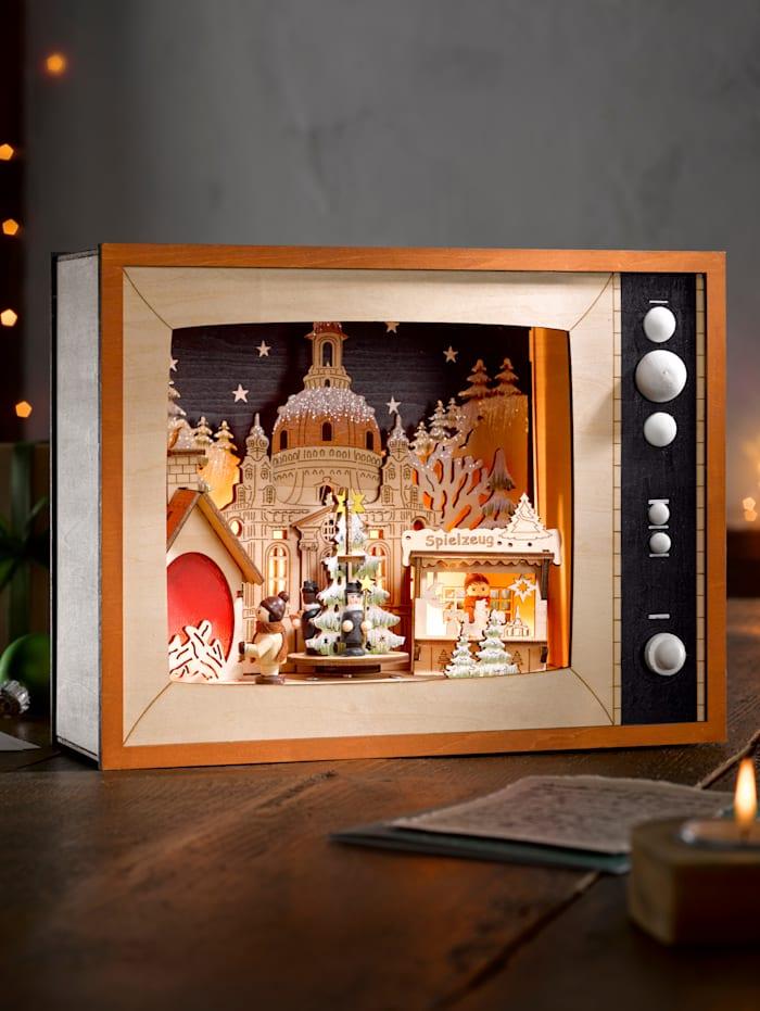"""Téléviseur LED """"Marché de Noël"""", Multicolore"""