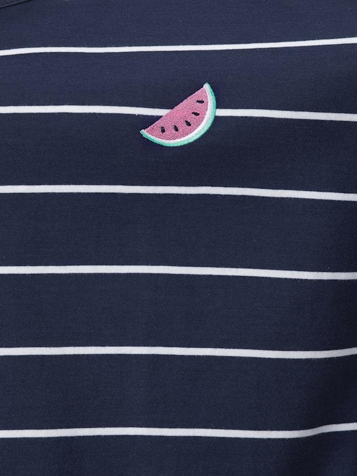 Shirt mit Melonen-Stickerei