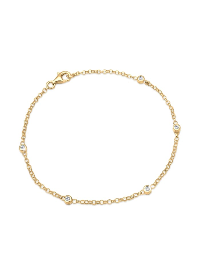 Elli Armband Klassisch Kristalle 925 Sterling Silber, Gold