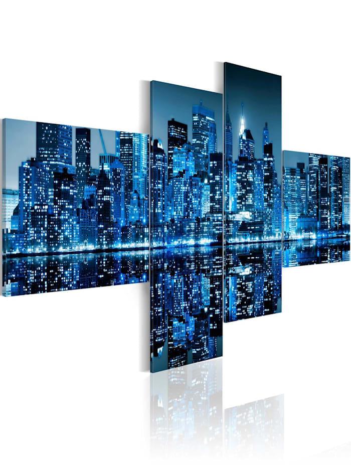artgeist Wandbild New Yorker Hochhäuser in Blau, Blau,Grau,Türkis