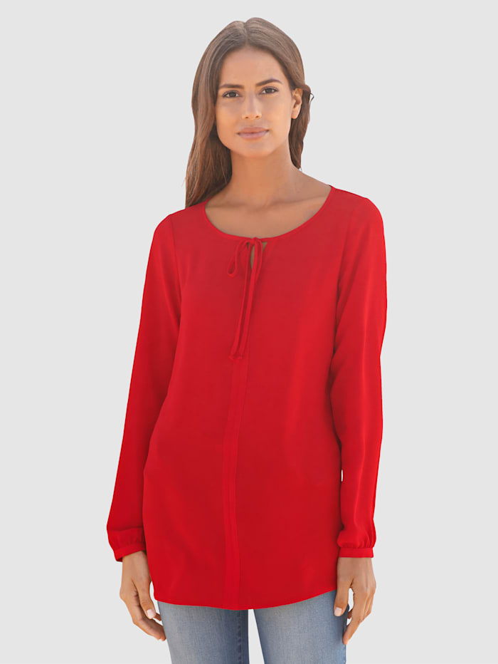 basically you Bluse mit Bindedetail, Rot