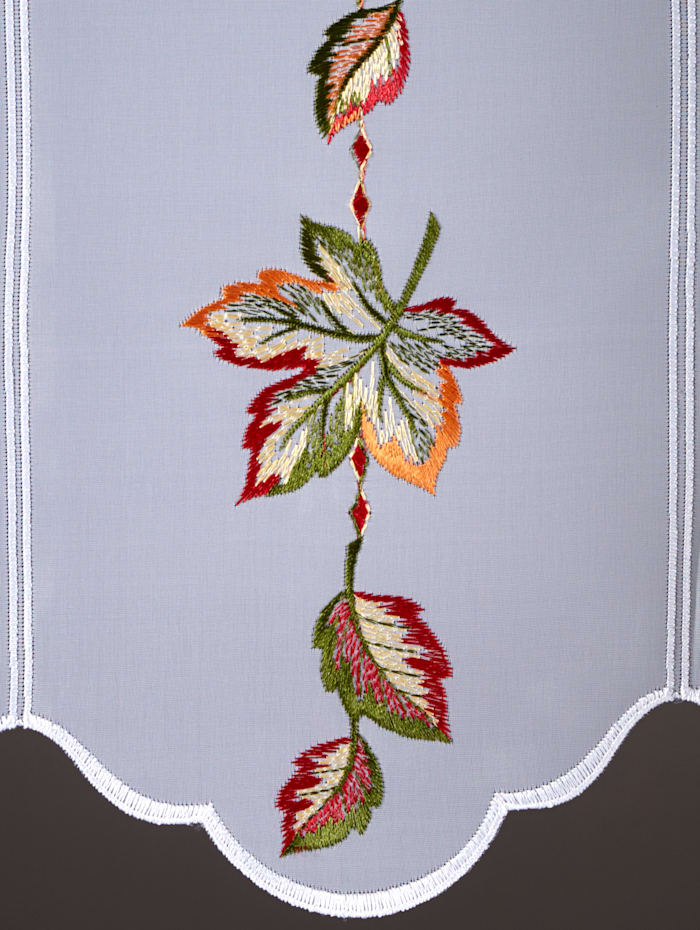 Korte vitrage Herfstbladeren