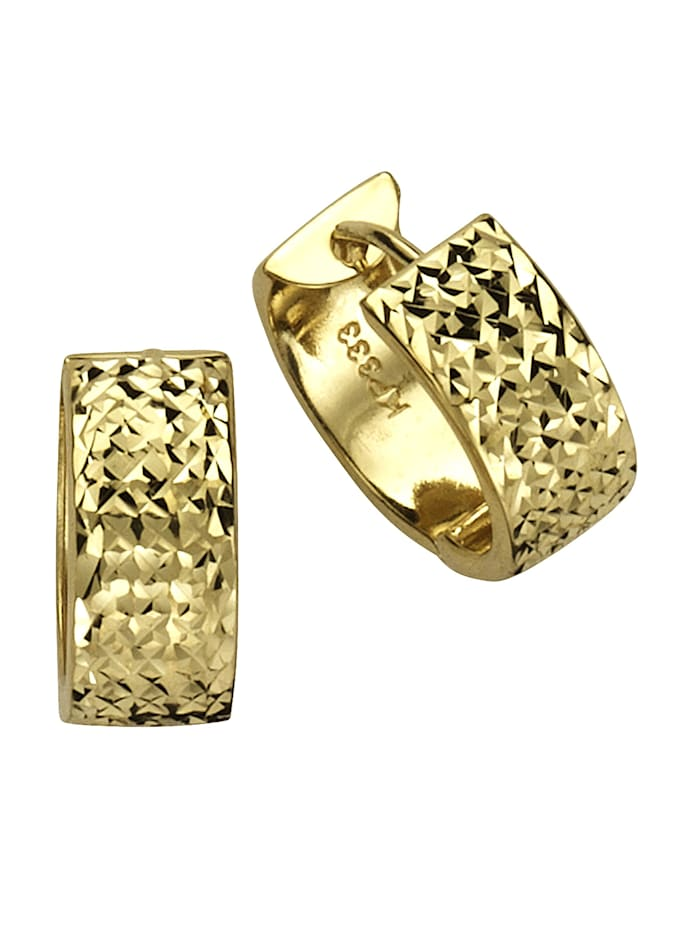 Fascination by Ellen K. Creolen 333/- Gold 1,5cm Diamantiert 333/- Gold, gelb