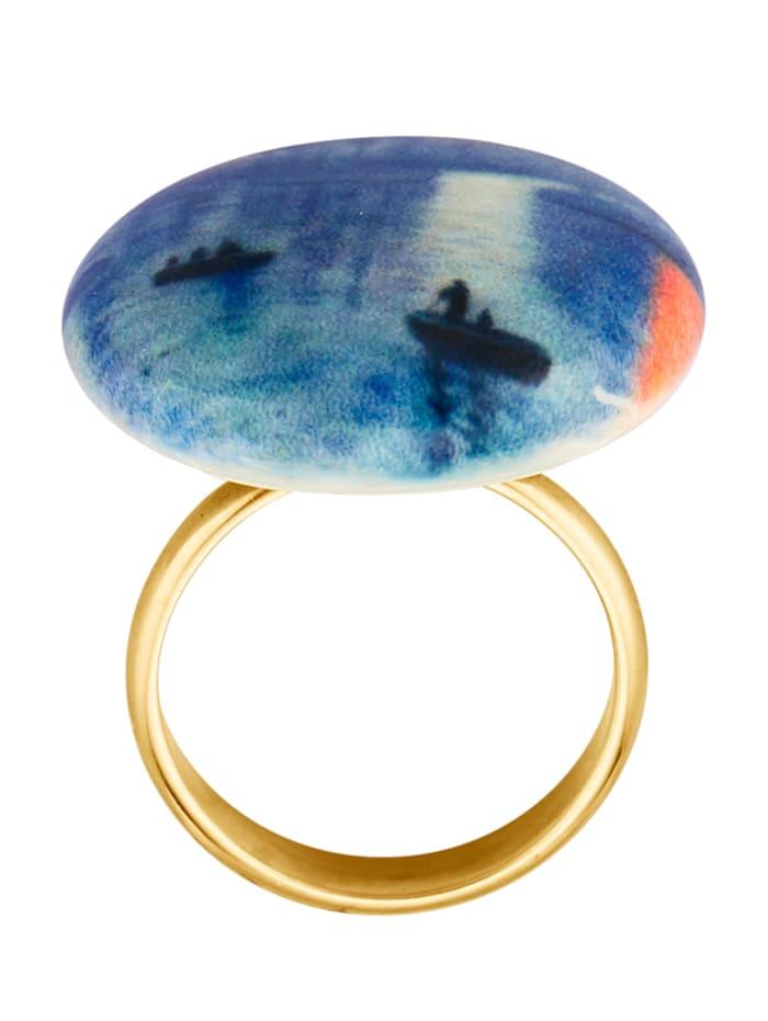 Muranoglas-Ring mit Muranoglas `Venedig`