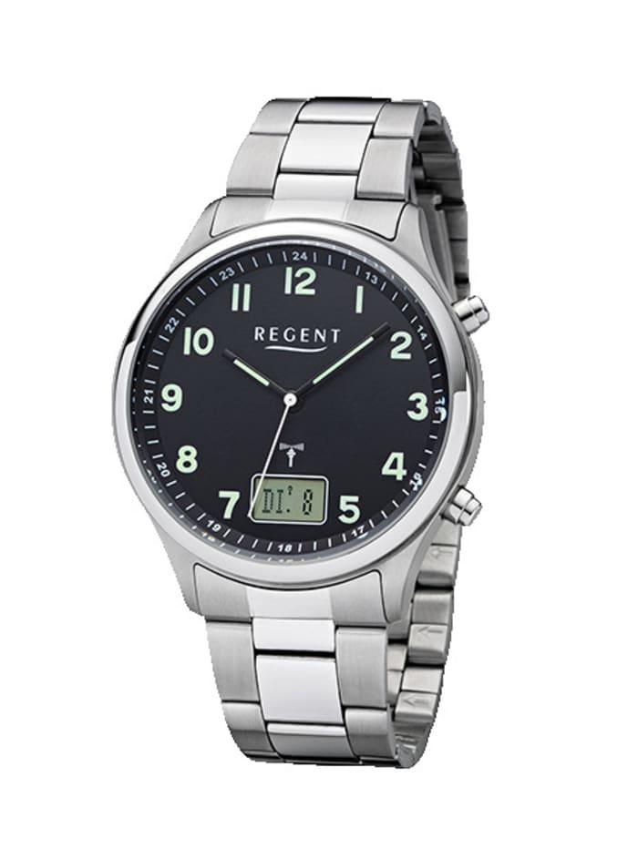 Regent Herren-Funk-Uhr 11030184, Silberfarben