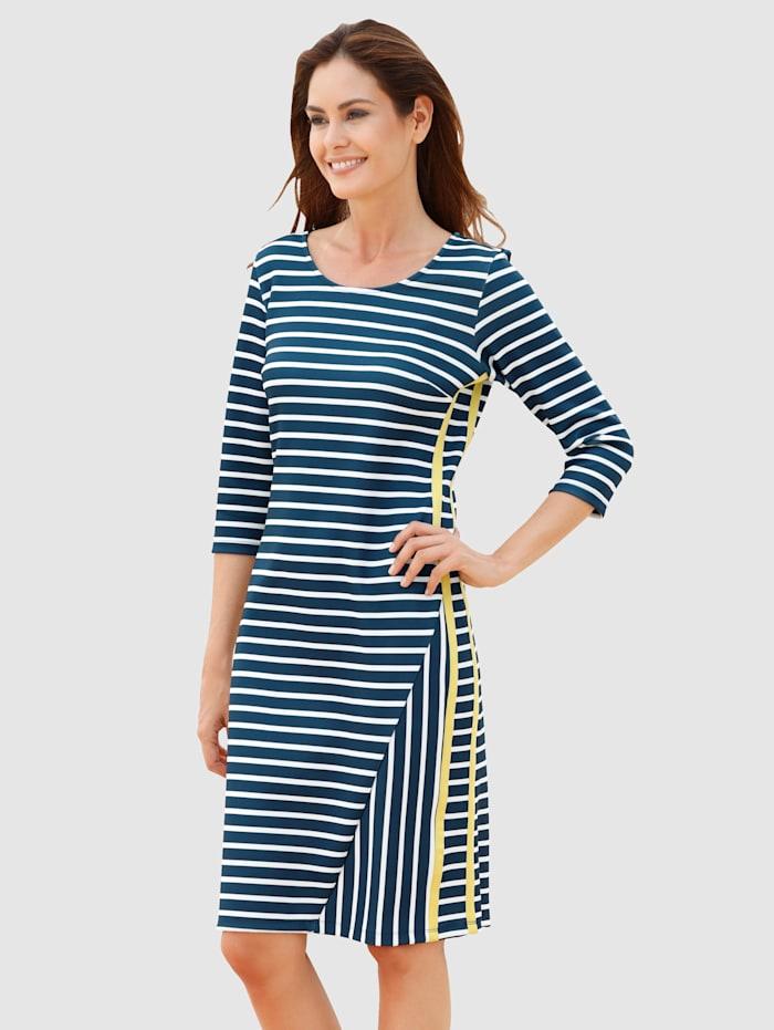 Laura Kent Kleid in Romanit-Qualität, Marineblau/Weiß