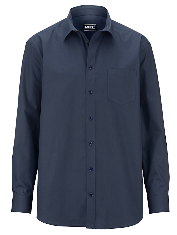 Men Plus Skjorta, Marinblå