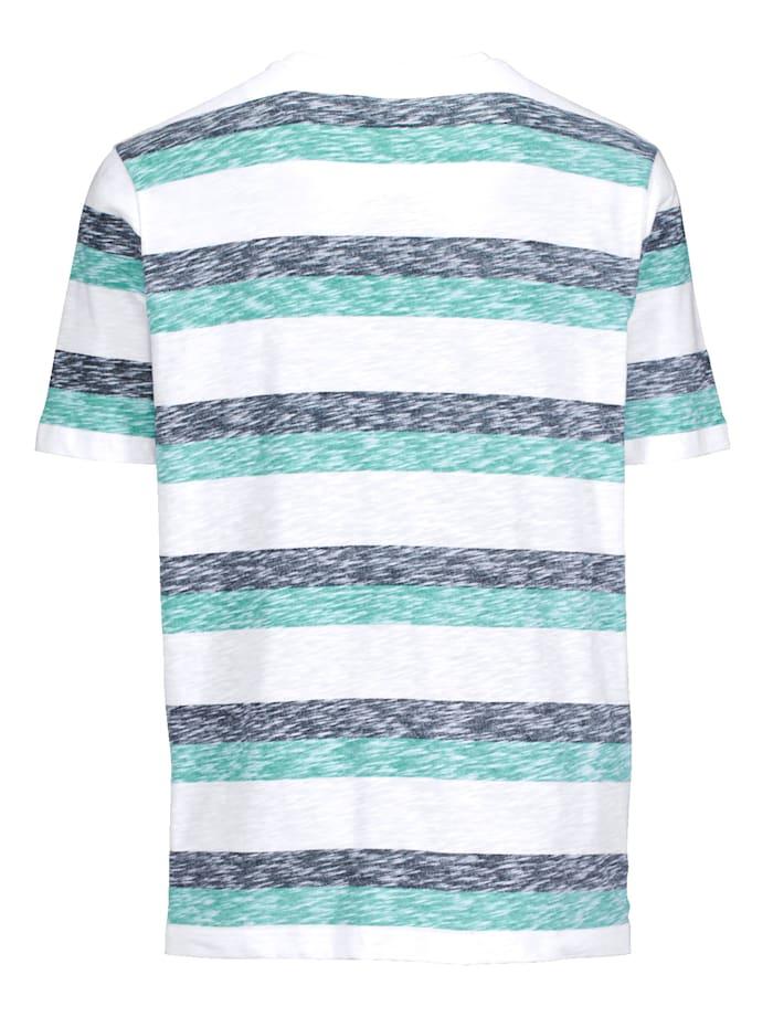 T-shirt in gemêleerde look
