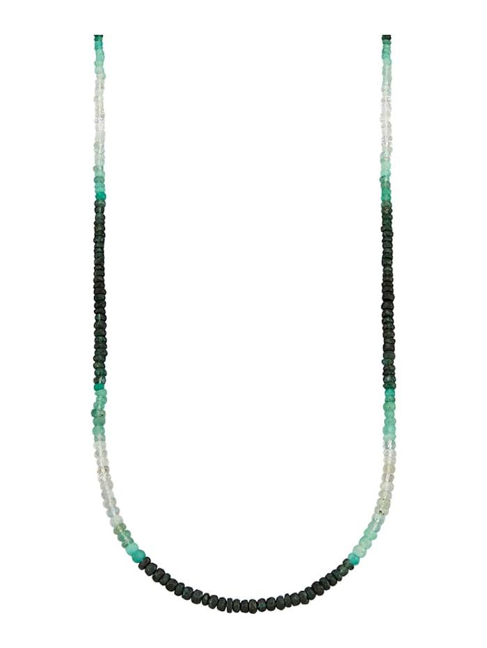Diemer Farbstein Ketting van smaragd met smaragden, Multicolor