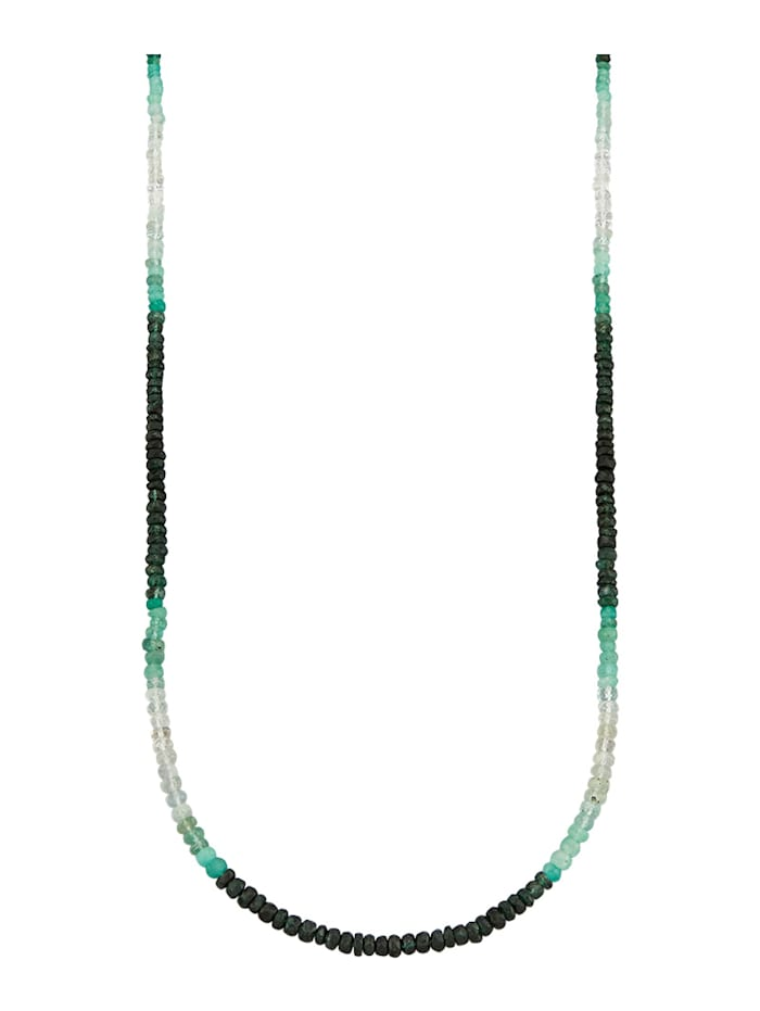 Diemer Farbstein Smaragd-Kette, Multicolor