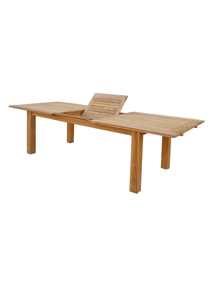 Teak Tisch 200/260x100 cm ausziehbar  Esstisch Gartenmöbel Gartentisch  Holztisch