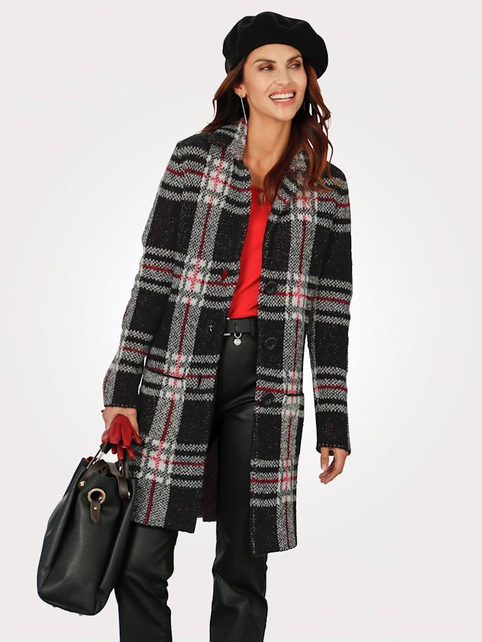 Rabe Longline Cardigan Fully lined, Black/Ivory