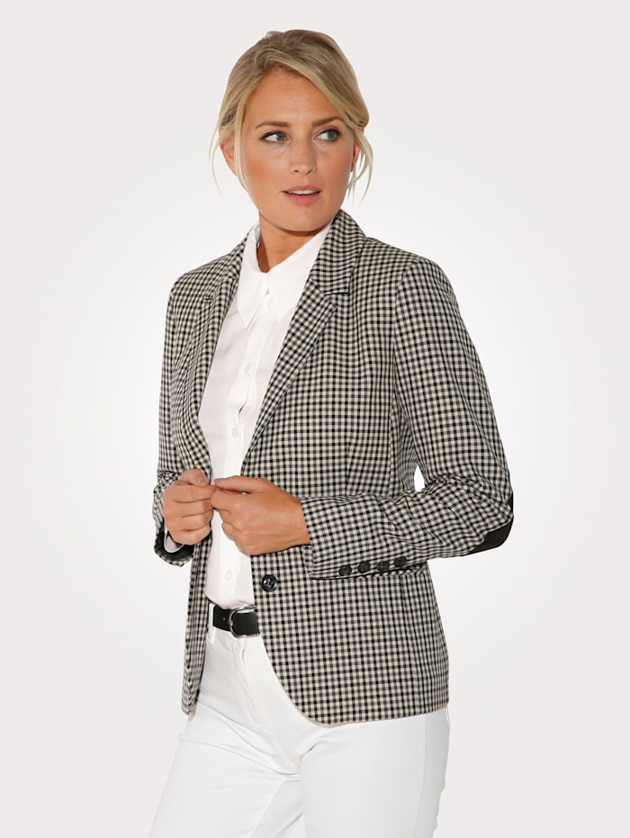 Blazer in a heritage check pattern