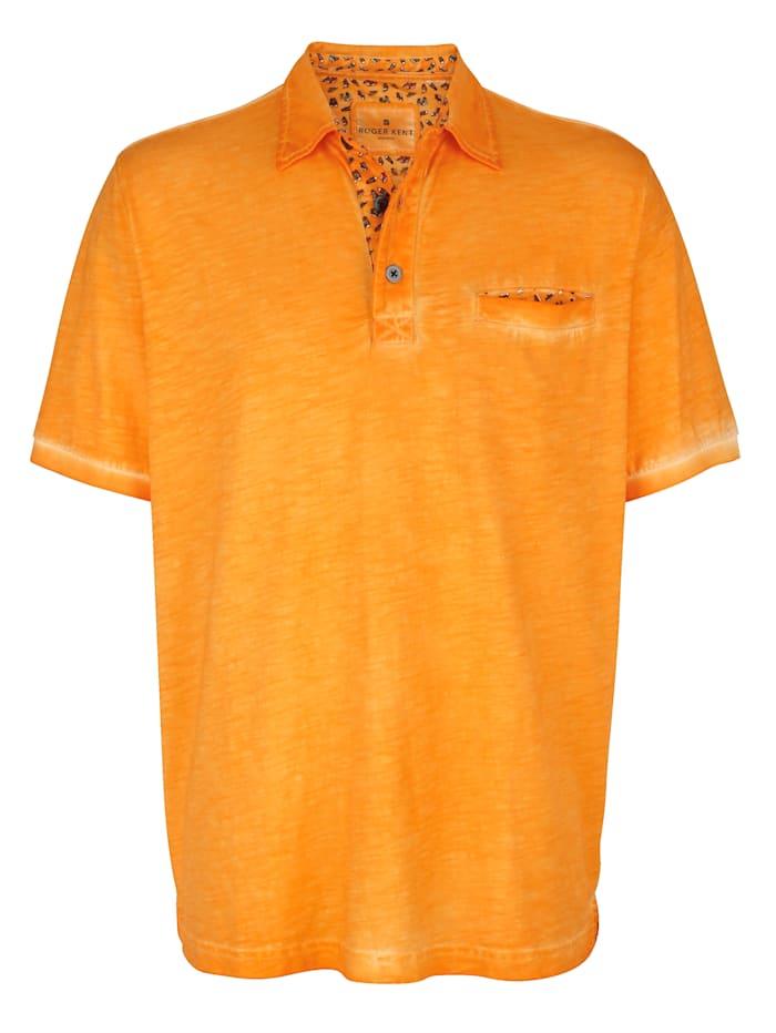 Roger Kent Poloshirt met gedessineerde details, Oranje