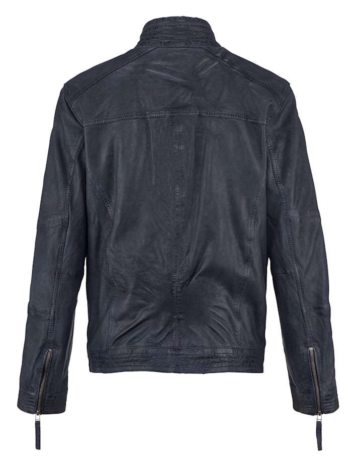 Kožená bunda z barvené jehněčí nappa