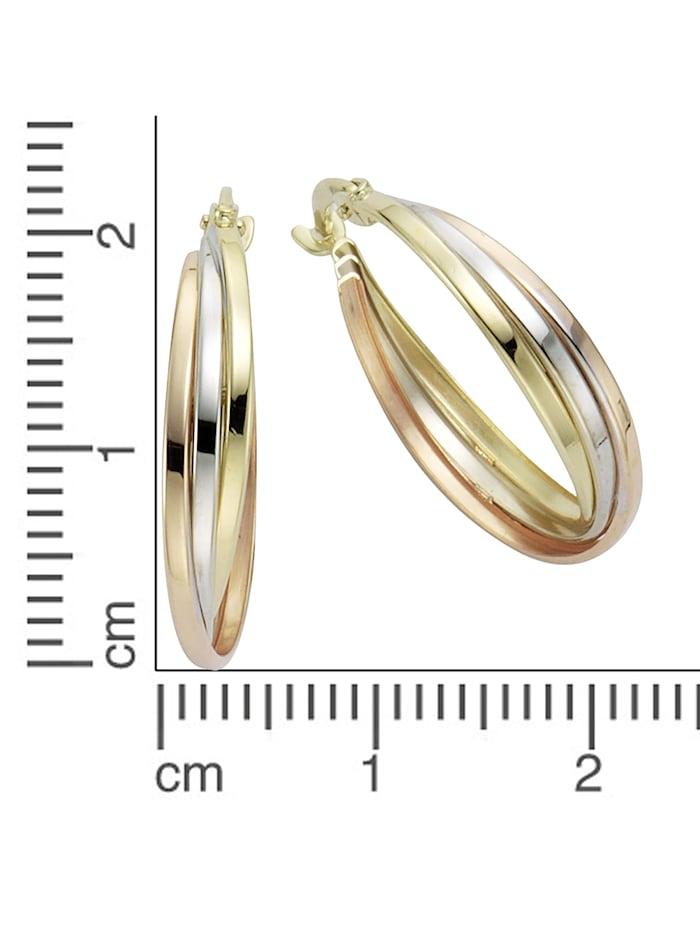 Creolen 333/- Gold 2,0cm Tricolor 333/- Gold