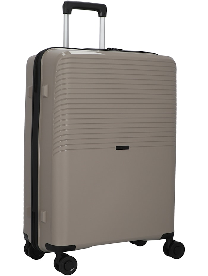 D&N Travel Line 4000 4-Rollen Trolley 66 cm, taupe