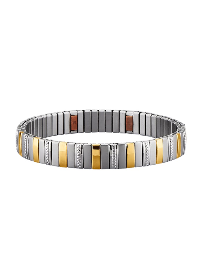 Magnetic Balance Armband, Edelstahl, Silberfarben
